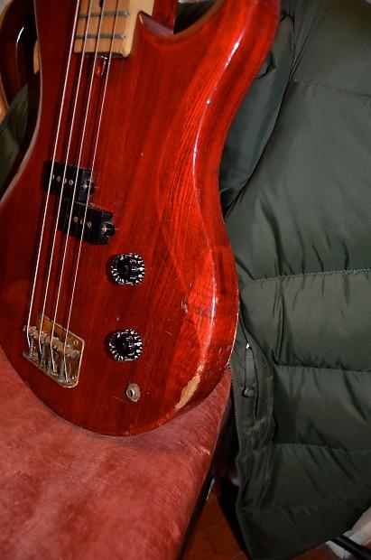 Vantage Avenger Bass Guitar 1960 S Trans Red Reverb