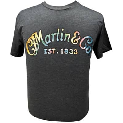 Martin Guitars Tie-Dye Logo Tee in Charcoal Size XL image