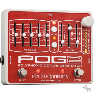 Electro-Harmonix POG2 Polyphonic Octave Generator Harmonizing Guitar Effect Peda