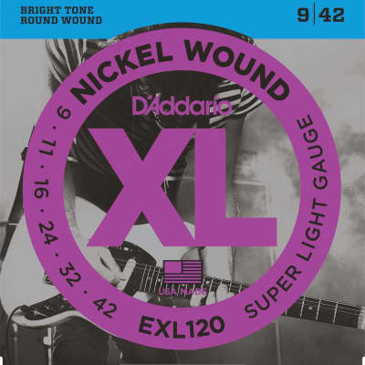 D'Addario XL Nickel Electric Strings - 9-42