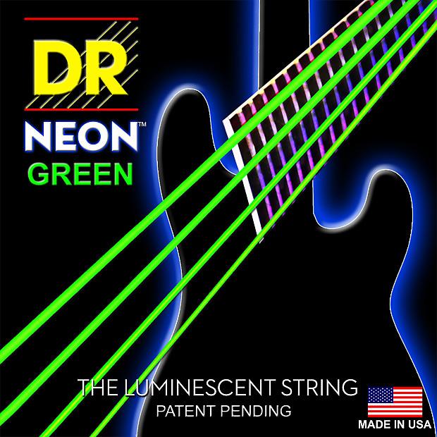 DR Strings NGB-45 Neon Hi-Def Green 4 String Medium 45-105 Reverb