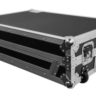 Pro X XS-NS7IIIW Travel Flight Case w/ Wheels For Numark NS7III / NS7 III II 2 3