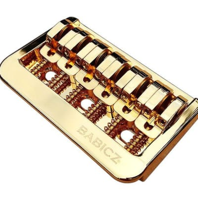 Babicz Full Contact Hardware Fixed 6-String Hardtail Bridge, Gold for sale
