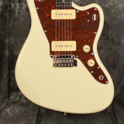 Tagima TW-61 Vintage White Offset Jazz Master Style P-90 Electric Guitar Woodstock Series Varitone for sale