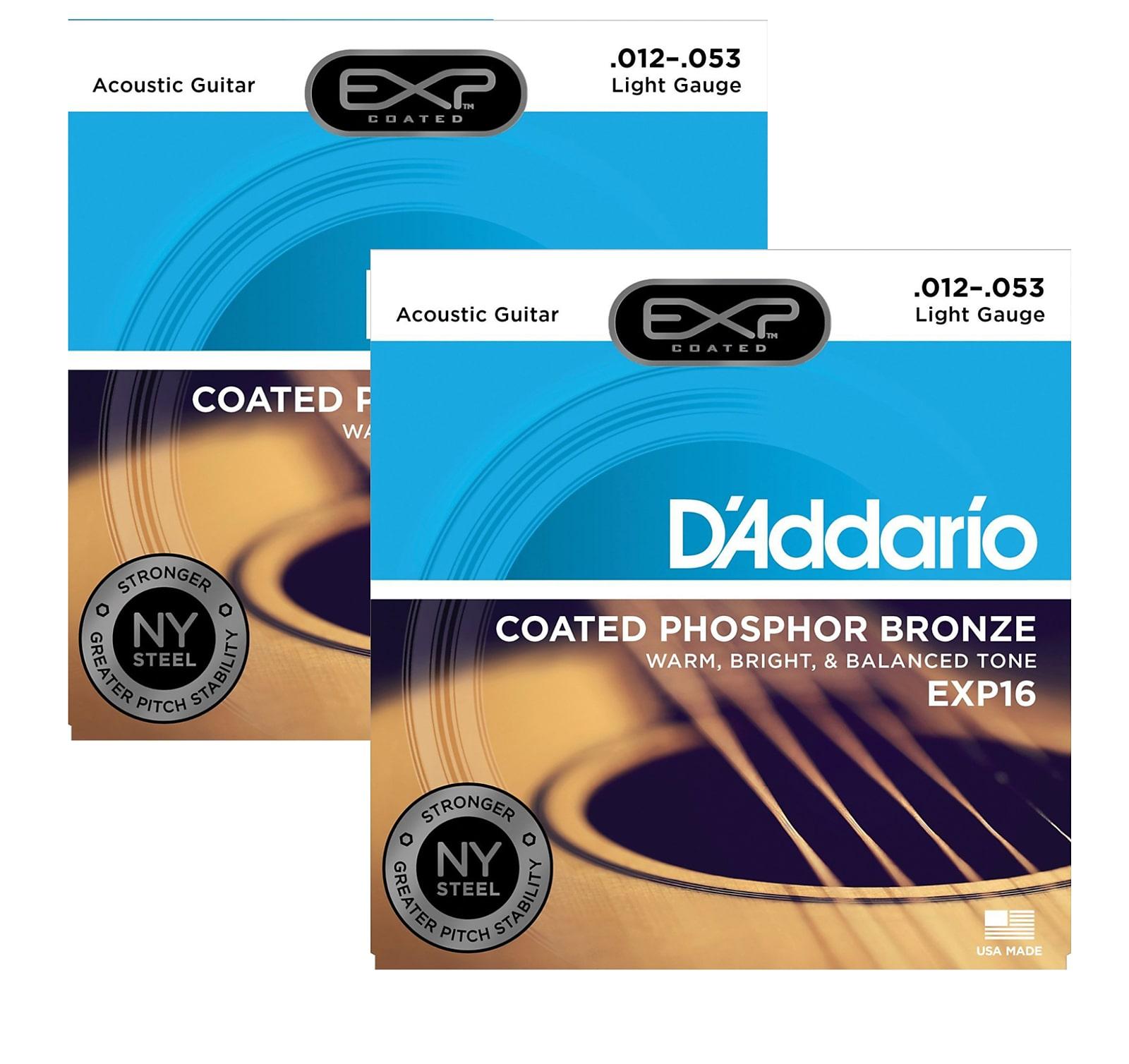 D/'Addario EXP17 Coated Phosphor Bronze Acoustic Guitar String Set Medium 13-56