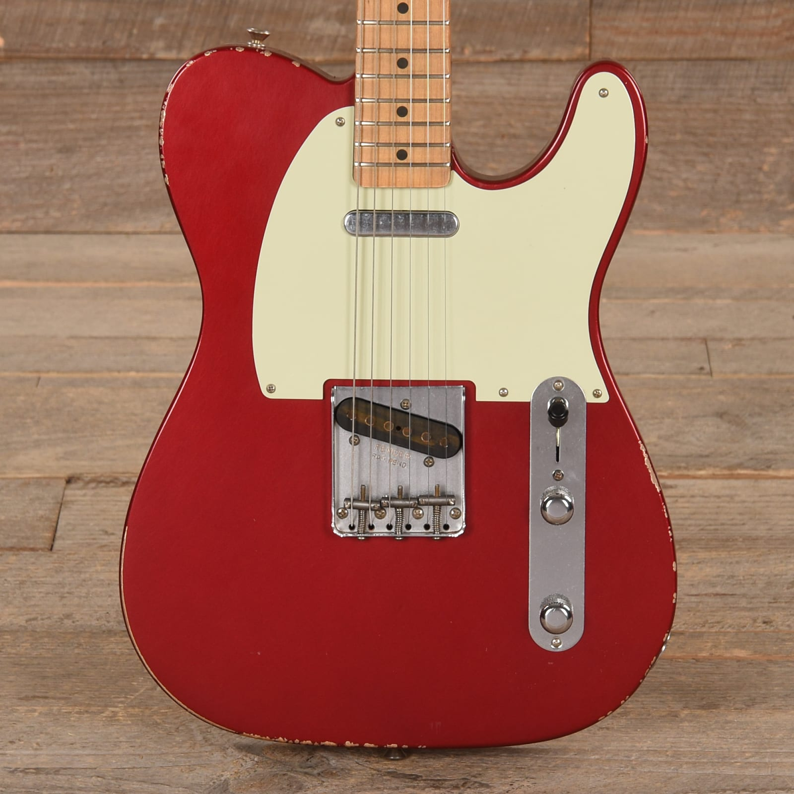 fender road worn 39 50s telecaster candy apple red cme exclusive used