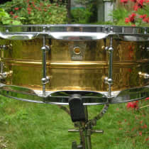"Ludwig 5x14"" Hammered Bronze Snare Drum 2000s image"