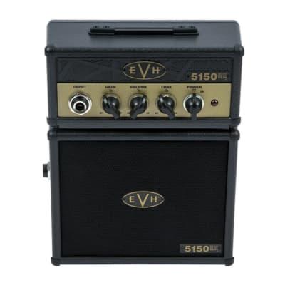 "EVH 5150III EL34 Micro Stack, 1x3"" Black and Gold Mini Guitar Combo Amp"