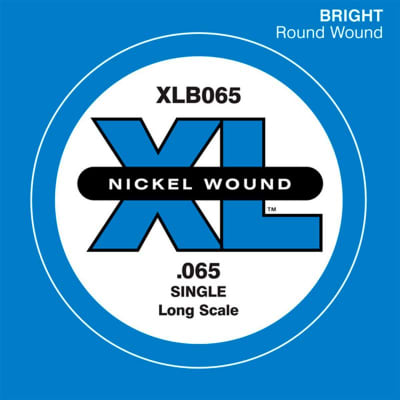 D'Addario Nickel Wound Single Bass String XLB 065