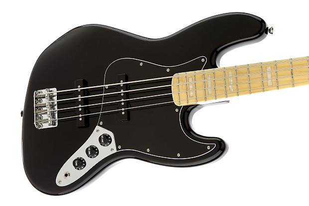Squier Vintage Modified Jazz Bass 77 Black Reverb