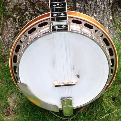 1984 Vintage Gold Star HF-100 Flathead banjo w/Keith tuners,,, TONE! for sale