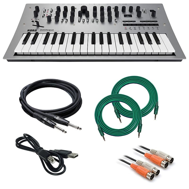 korg minilogue polyphonic analog synthesizer cable kit reverb. Black Bedroom Furniture Sets. Home Design Ideas