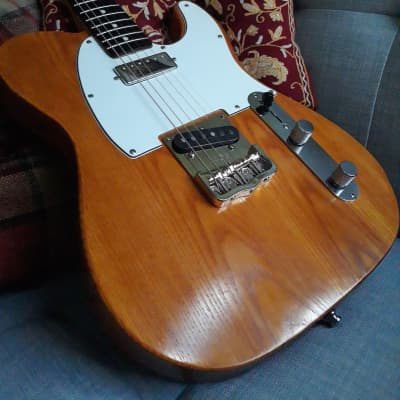 Valenti #19 Swamp Ash Tele w/ mini-HB and Single  Coil 2016 Tung Oil with AmberShellac for sale