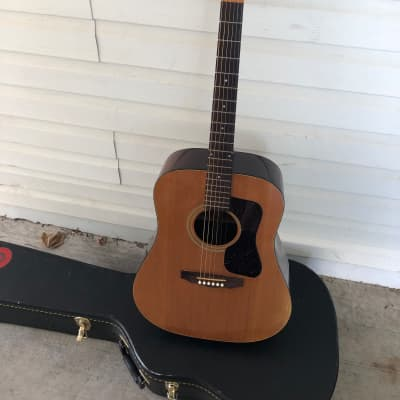 Mid-1980s Guild D-35 Bluegrass Natural with Hard Case for sale