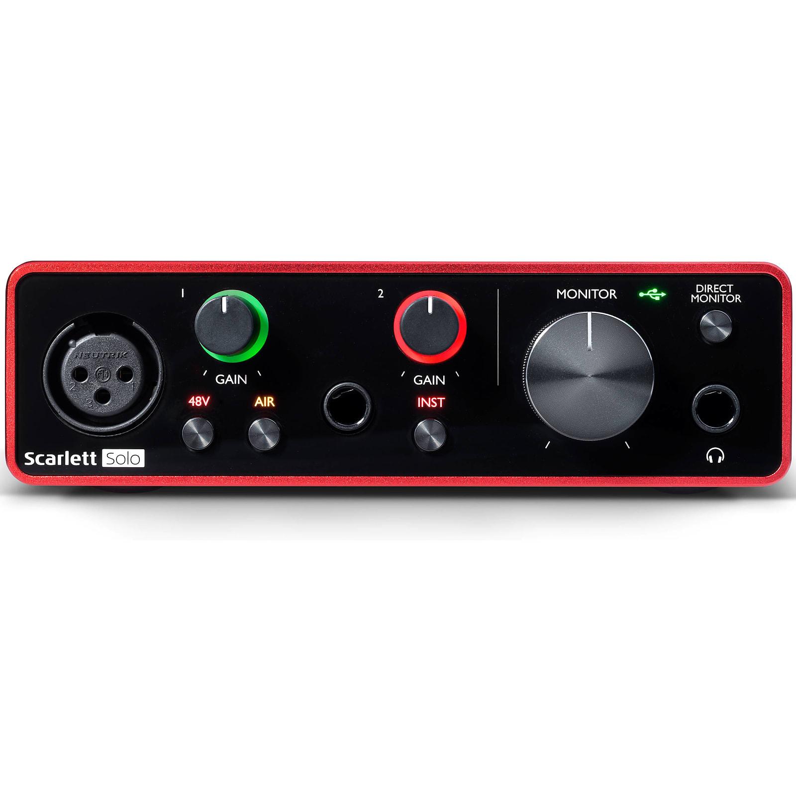 Focusrite Scarlett Solo USB Audio Recording Interface (3rd Gen)