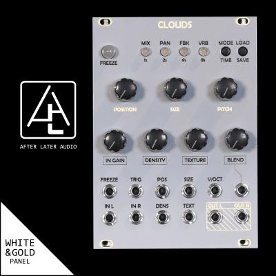 Mutable Instruments Clouds Clone Eurorack Module - Custom White/Gold Panel