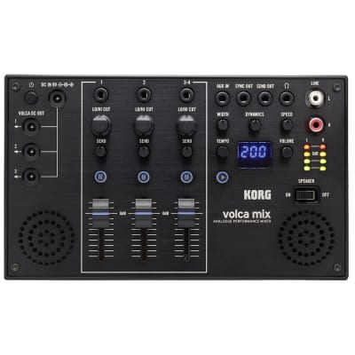 Korg Volca Mix 4-Ch Bass Keys Beats FM Kick Sample Analog Performance Mixer