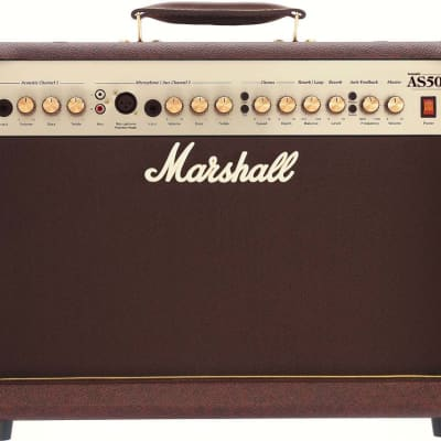 Marshall AS50D 2-Ch 50W 2x8 Acoustic Guitar Amplifier