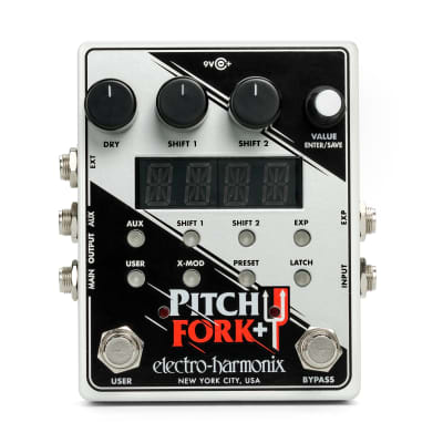 Electro Harmonix Pitch Fork Plus + Pedal Polyphonic Pitch Shifter / Harmony Pedal