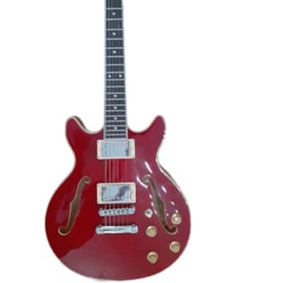 Alden AD-134 DC - Double Cutaway Electric Guitar Trans Red for sale