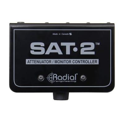 Radial SAT-2 Passive Stereo Audio Attenuator & Monitor Controller w/ Master Knob