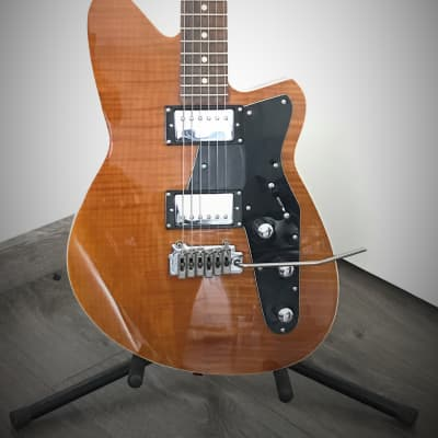 Reverend Jetstream HB with Roasted Maple Neck Violin Brown Flame Maple for sale