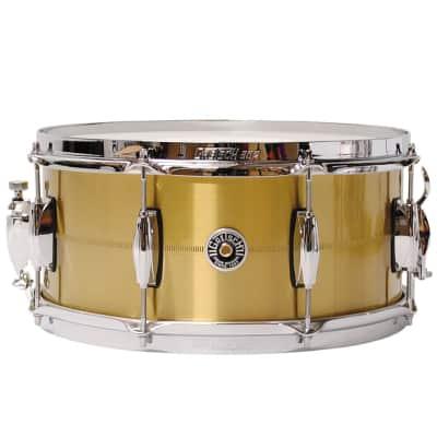 """Gretsch GB4167BBR Brooklyn Bell Brass 6.5x14"""" 8-Lug Snare Drum"""