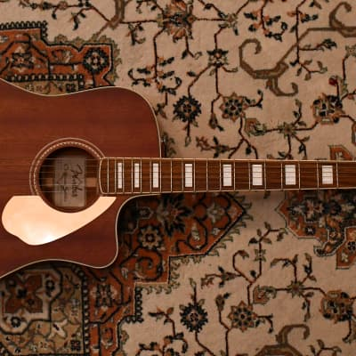 Fender Jimmy Dale Signature Kingman SCE All-Solid Mahogany Cutaway Folk w/ Electronics Natural for sale