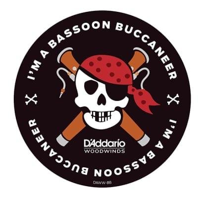 """D'Addario I'm A Bassoon Buccaneer 4"""" Round Sticker"""