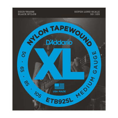 D'Addario ETB92SL Medium Super Long Scale Tapewound Bass Strings 50-105