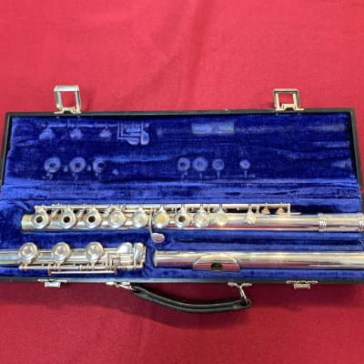 Gemeinhardt 3SHB Open-Hole Flute with B-Foot c. 1985 Silver-Plated