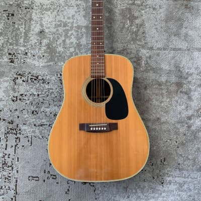 Takamine Martin D-28 Copy Dreadnought Acoustic Guitar 1974 Natural