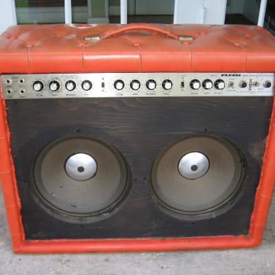 Plush Super 450 Guitar Amplifier, Rare ORANGE Tuck and Roll for sale