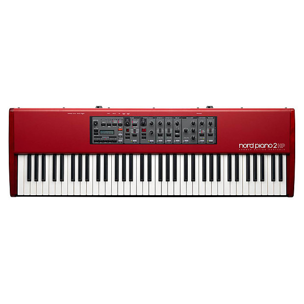 Nord Piano 2 HP Portable Digital Stage Piano with Roland KC-350 4-Channel  Mixing Keyboard Amplifier