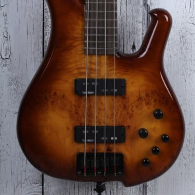 Sozo Z Series Provide 4 String Electric Bass Guitar Violin Burst with Hard Case for sale