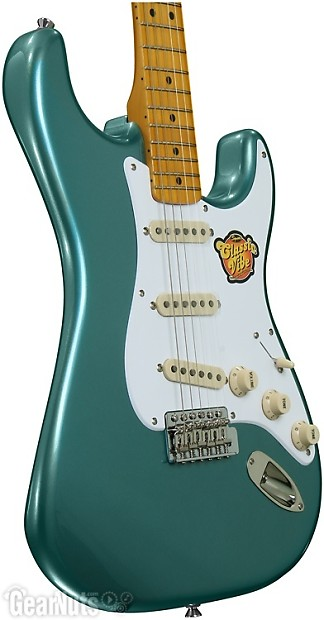 squier classic vibe stratocaster 39 50s sherwood green reverb. Black Bedroom Furniture Sets. Home Design Ideas