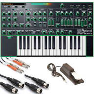 Roland AIRA System-1 Plug-out Synthesizer Keyboard + Sustain Pedal + Cables