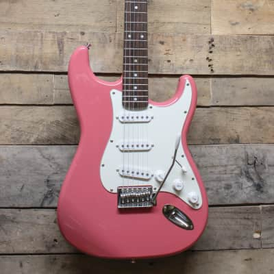 Johnson Pink Strat with Johnson EMG Pickups - local pickup Chicagoland for sale
