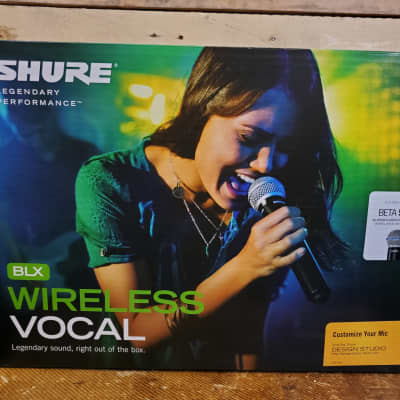 Shure BLX24 / B58-H10 - Wireless Vocal System with Beta 58A - Pro sound with pristine clarity