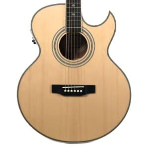 Epiphone PR-5E Acoustic/Electric Guitar w/ Florentine Cutaway Natural