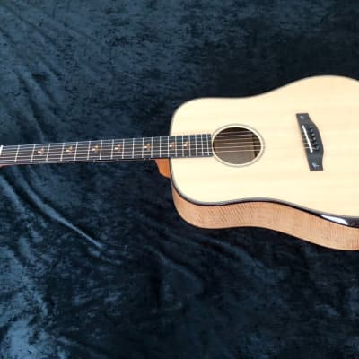 New Terry Pack DBS acoustic dreadnought guitar, solid banglang, spruce, as used by James Bartholomew for sale