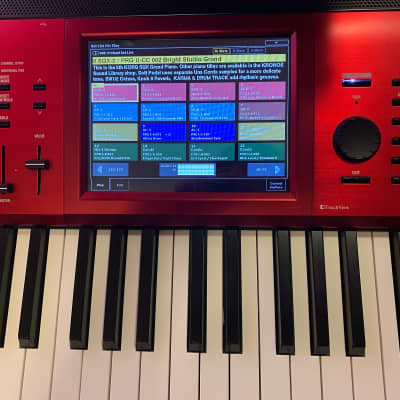 Korg Kronos 2 88 limited edition with Italian grand demo and Roadie ATA case