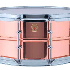 "Ludwig LC662T Copper Phonic 6.5x14"" Snare Drum with Tube Lugs"