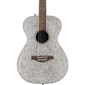 Daisy Rock Pixie Silver Sparkle Acoustic Guitar for sale