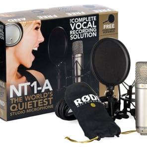 Rode NT1-A Recording Pack, includes suspension, pop filter & cable
