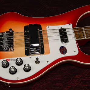 New! Rickenbacker 4003 4-String Bass Fireglo Authorized Dealer Warranty Original Hardshell Case! for sale