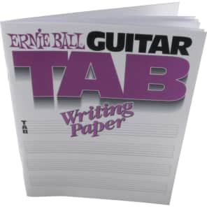 Ernie Ball P07021 Guitar Tab Writing Paper Book