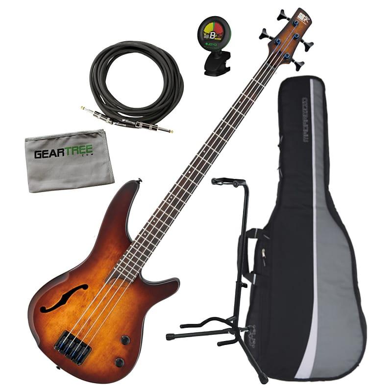 Ibanez SRH500 DEF SR Bass Workshop 4-String Bass Bundle Dragon Eye Burst