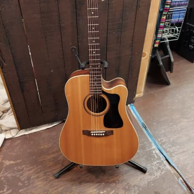 Guild Arcos AD-5CE Sitka/Rosewood Dreadnought Cutaway Natural for sale