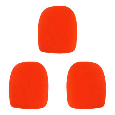 Microphone Windscreen - 3 Pack - Red - Fits Shure SM58, Beta 58A & Similar - Vocal Mic Cover New